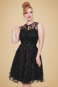 50s Penny Lace Dress in Black