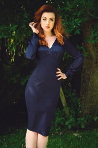 Glamour Bunnt Harriet Dress Navy 2