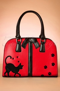TopVintage Exclusive ~ 50s Follow Me Kitty Handbag in Red