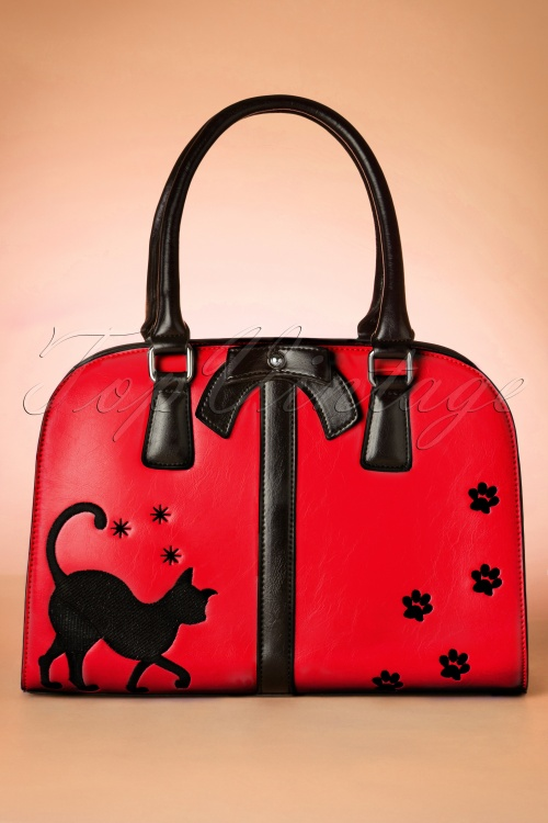 Vixen 50s Cat Handbag in Red 212 20 19609 10242016 023W
