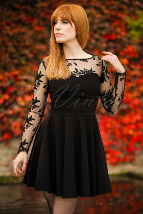 20e3e3a6bfa Vintage Chic Black Mesh and Lace Dress 102 10 18556 20160825 0010Modelfotow
