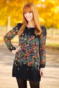 Yumi Botanical Print Black 60s Dress 106 14 18334  20160120 0100W1 modelfotoW