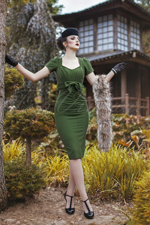 Stop Staring Verde Bow Pencil Dress 19484 20160701 3VW