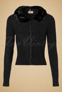 50s Lets Party Cardigan in Black