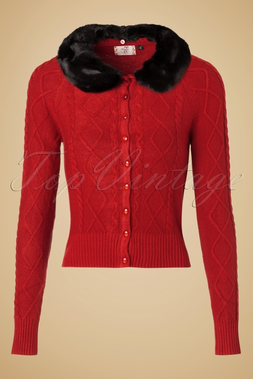 Dancing Days by Banned Lets Party! Cardigan in Red 140 20 19762 20161024 0021w