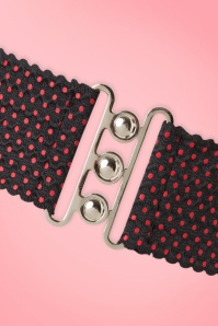Dancing Days by Banned Jamie Lee Belt Black and Red Polkadots 230 14 20086 20161025 0004a