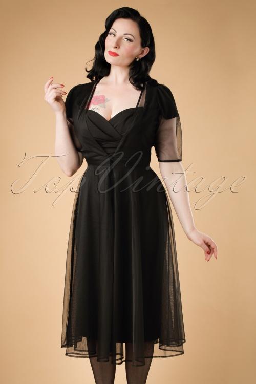 Collectif Clothing Ashleeta Sheer Swing Dress 18964 20160602 model02W