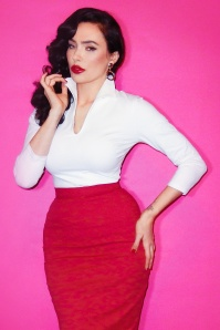 50s Vixen Top in White