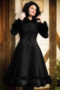 Bunny Elvira Black Faux Fur Wintercoat 152 20 16726 20150921 016Modelfoto2w