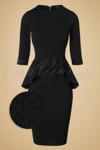 Vintage Chic Noddy Black Peplum Dress 100 10 19635 20161026 0007WV