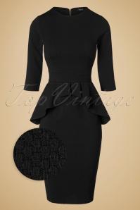 Vintage Chic Noddy Black Peplum Dress 100 10 19635 20161026 0007WV