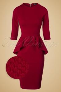 Vintage Chic Noddy Red Peplum Dress 100 20 19636 20161026 0003wv