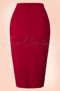 Vintage Chic Noddy Red Pencil Midi Skirt in Red 120 20 19638 20161026 0007W
