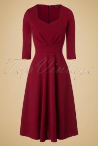 Vintage Chic Scuba Crepe Sweetheart Neckline Wine Red Dress 102 20 19596 20161026 0005w