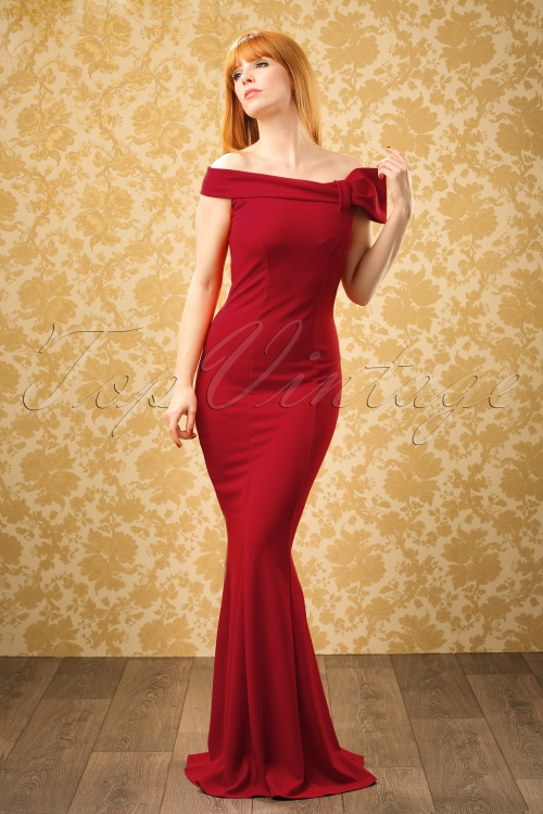 Vintage Chic Red Maxi Off Shoulder Dress 108 20 19652 20160927 0012W ModelfotoW