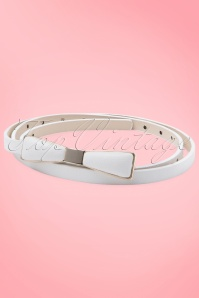 Tatyana Bow Belt White 230 50 10658a