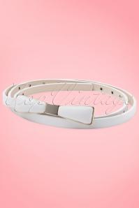 Tatyana Bow Belt White 230 50 10658a