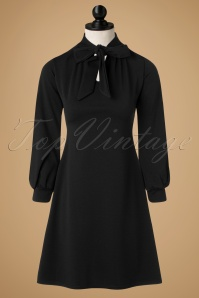 TopVintage Exclusive ~ 60s Marsha A-Line Dress in Black