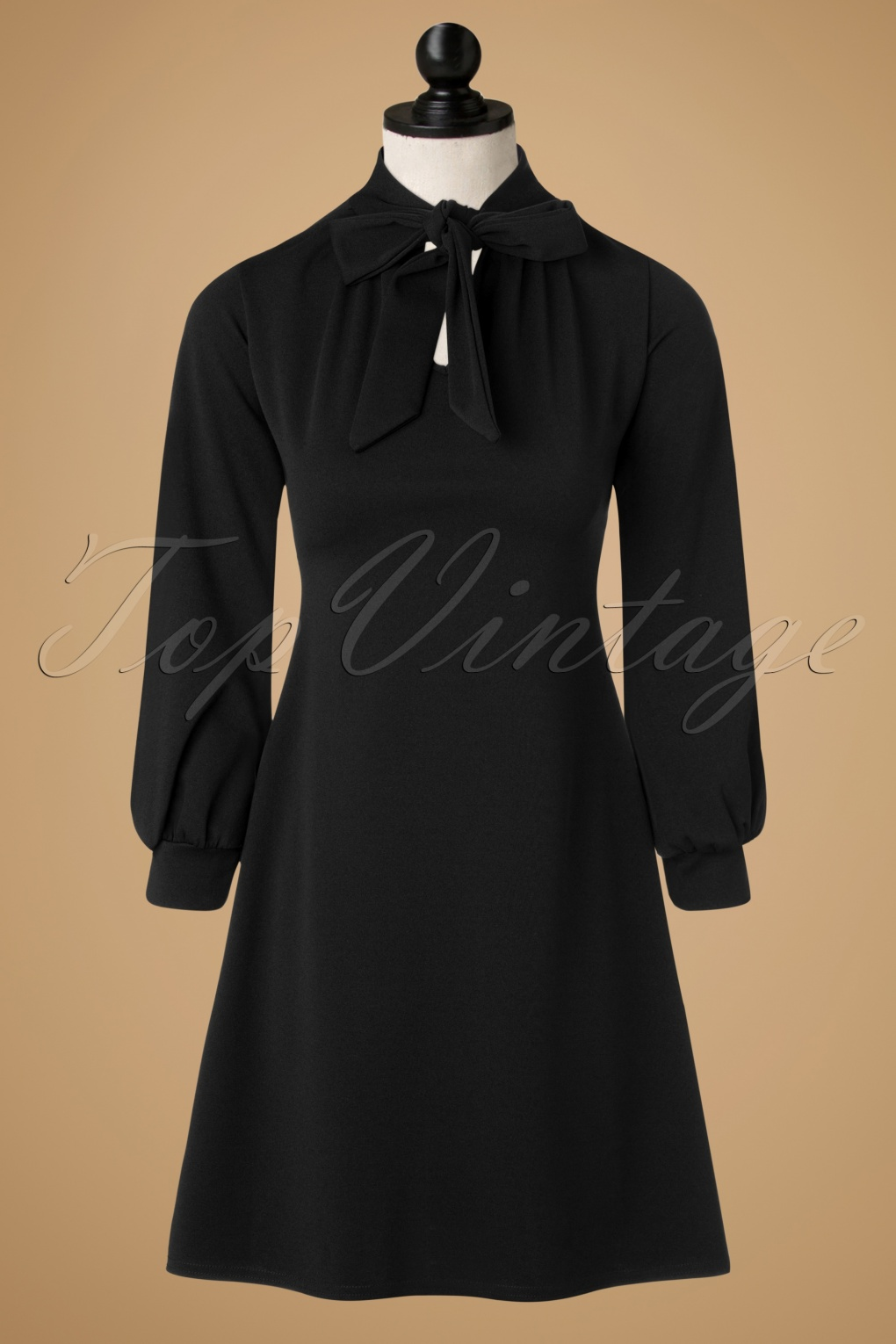 1960s Style Dresses- Retro Inspired Fashion TopVintage Exclusive  60s Marsha A-Line Dress in Black £32.54 AT vintagedancer.com