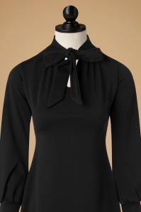 Vintage Chic Scuba Crepe Black Tie Neck Dress 106 10 19625 20161031 0016popc