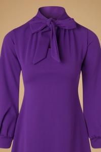 Vintage Chic Scuba Crepe Purple Tie Neck Dress 106 60 19624 20161031 0008c