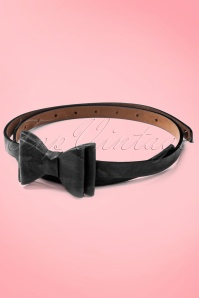 Tatyana Bow Belt Black 230 10 10655a