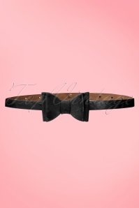 Tatyana 50s Bow Belt in Black