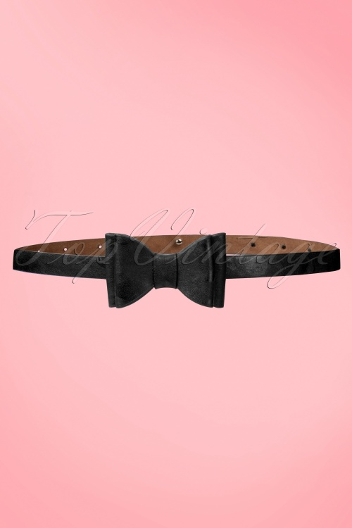 Tatyana Bow Belt Black 230 10 10655