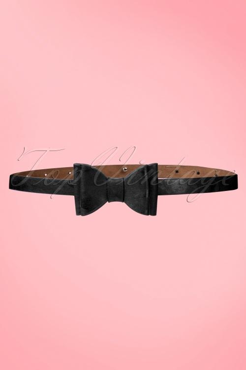 Tatyana Bow Belt Black 230 10 10655