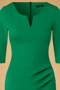 Vintage Chic Emerald Green Pencil Dress 100 40 20096 20161031 0003c