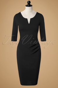 50s Shelia Pencil Dress in Black