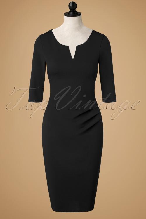 Vintage Chic Black Pencil Dress 100 10 19627 20161031 0009wdoll
