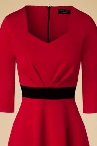 Vintage Chic Sweet Heart Red Black Dress 102 20 19597 20161031 0004c