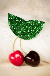 60s Delicious Glitter Cherries in Your Hair Clip