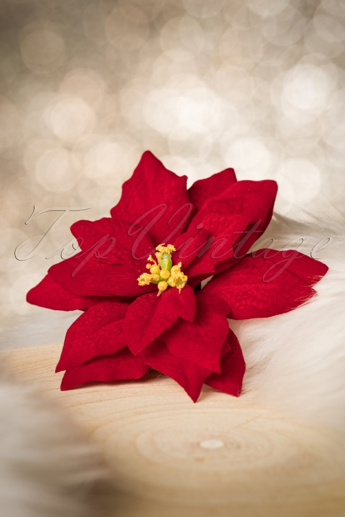 Lady Lucks Boutique Poinsettia Hairclip 200 20 20243 10252016 013W