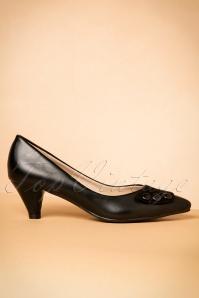 50s Belinda Kitten Heel Pumps in Black