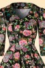 Hearts and Roses Black Floral Swing Dress 102 14 19996 20161031 0003V