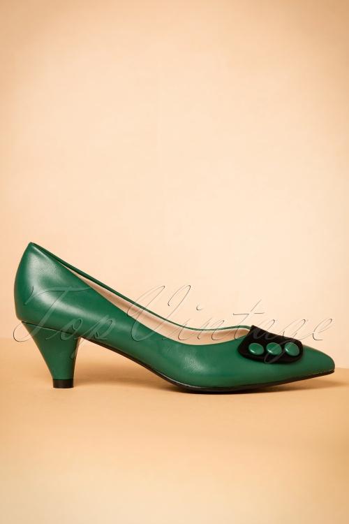 b1ef9679af7 Lulu Hun Green Belinda Low Heel Pump 400 40 20027 10252016 018W