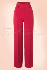 40s Melissa Trousers in Red- NEW FIT