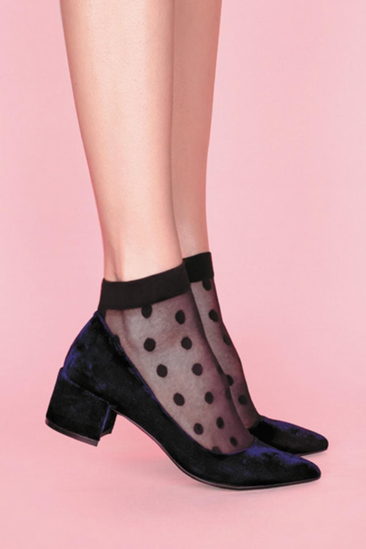 50s Guess Polkadot Socks in Black