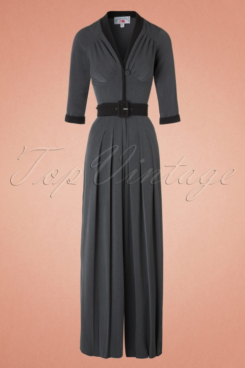 Miss Candyfloss TopVintage Exclusive Grey Jumpsuit 133 15 19354 20161031 0006W