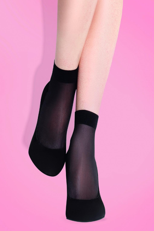 1950s Socks- Women's Bobby Socks 50s Maja Classic Socks in Black £4.35 AT vintagedancer.com