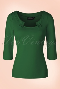 Vixen 50s Irena Green Top 113 20 19497 20161031 0006W