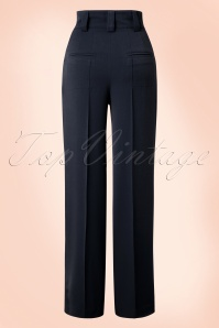 Miss Candyfloss Navy Vintage Trousers 131 31 16257 20151203 0007WA