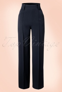 Miss Candyfloss Navy Vintage Trousers 131 31 16257 20151203 0003WA
