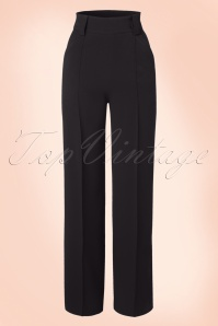 Miss Candyfloss Black Vintage Trousers 131 10 16256 20151203 0007WA