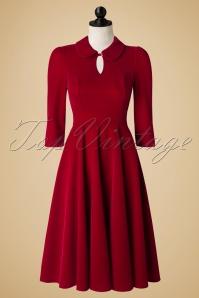 Hearts and Roses Glamoures Burgundy Velvet Dress 102 20 17661 pop