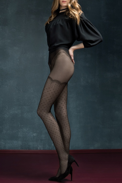 Fiorella Mystery Black Golden Line Catalana Tights 171 10 20400