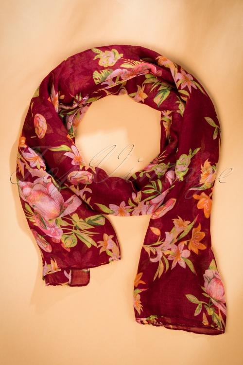 Celestine Red Floral Scarf 240 27 20429 11012016 006W