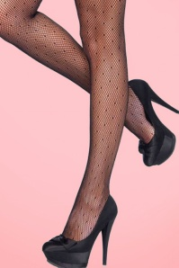 Rouge Royale Black Starlet Dotted Spandex Net Pantyhose 171 10 20422d